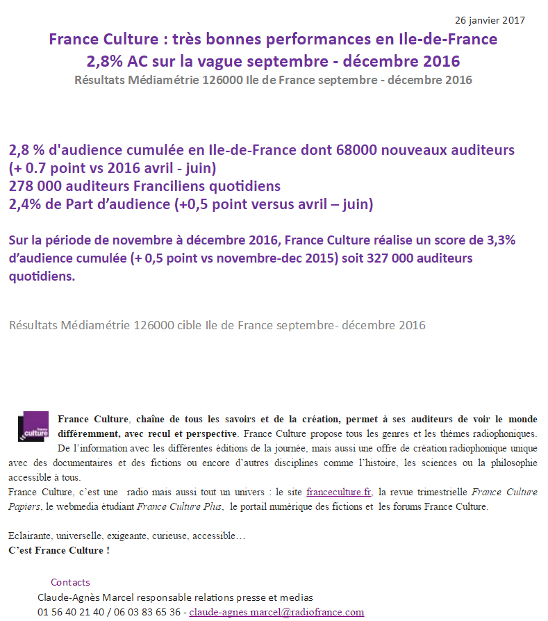 2017-01-26, CP France Culture