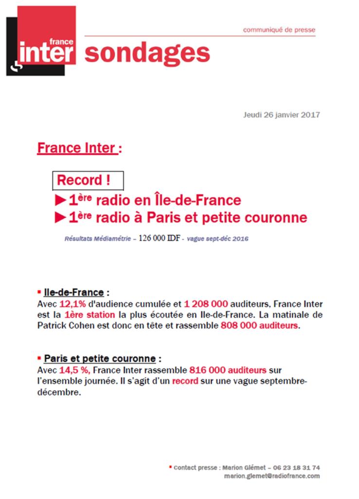 2017-01-26, CP France Inter