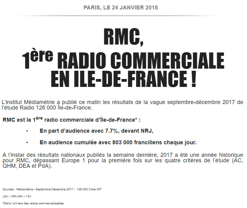CP janvier 2018, RMC