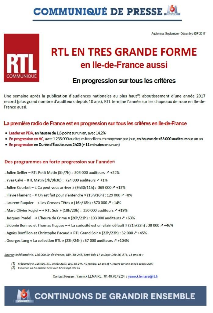 CP janvier 2018, RTL