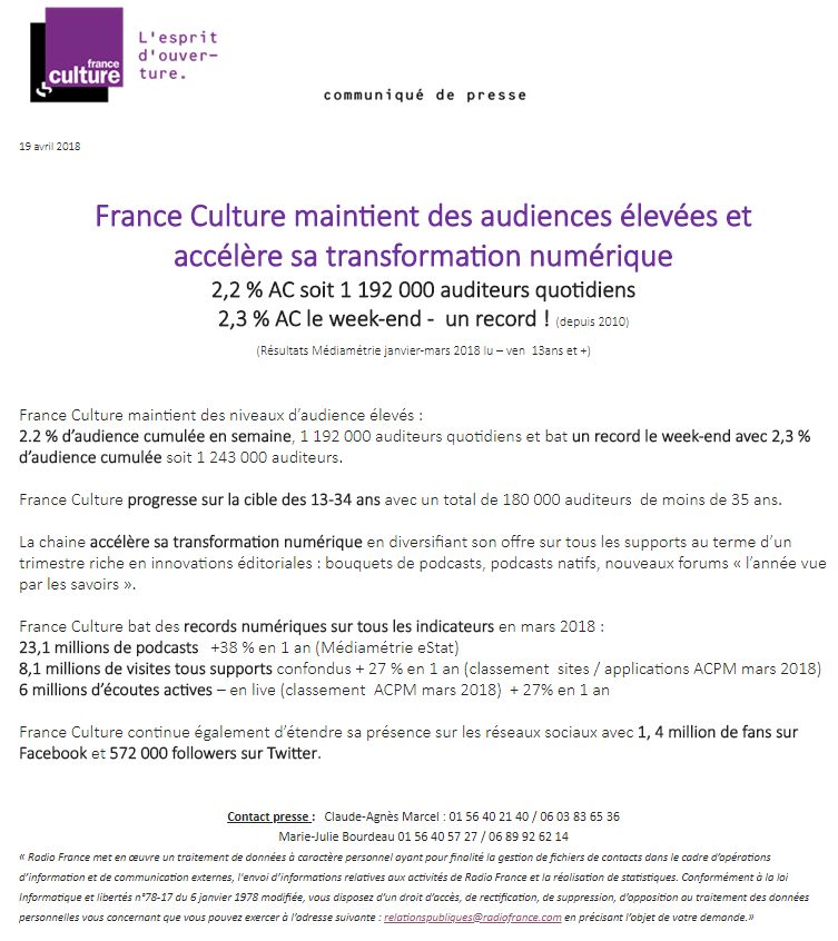 2018-04-19, CP France Culture
