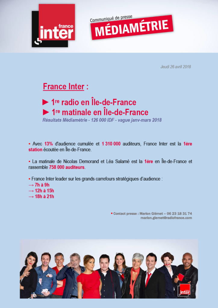 2018-04-26 - CP, France Inter